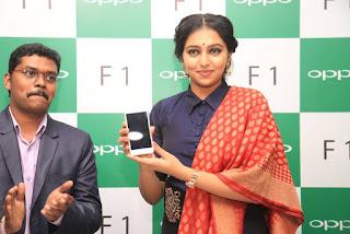 Actress Lakshmi Menon Pictures in Salwar Kameez at Selfie Expert OPPO F1 Mobile Launch 0009