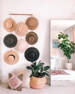 diy hat wall