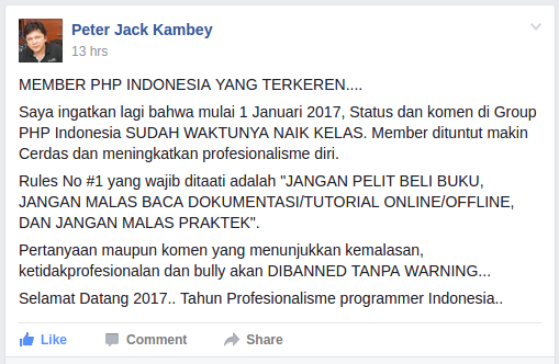 Peter Jack Kambey PHP Indonesia