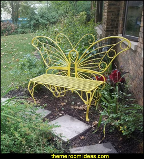 Butterfly Garden Bench garden furniture home garden decor