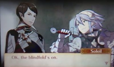 Fire Emblem Fates Soleil Avatar Corrin B support gay conversion therapy localization blindfold