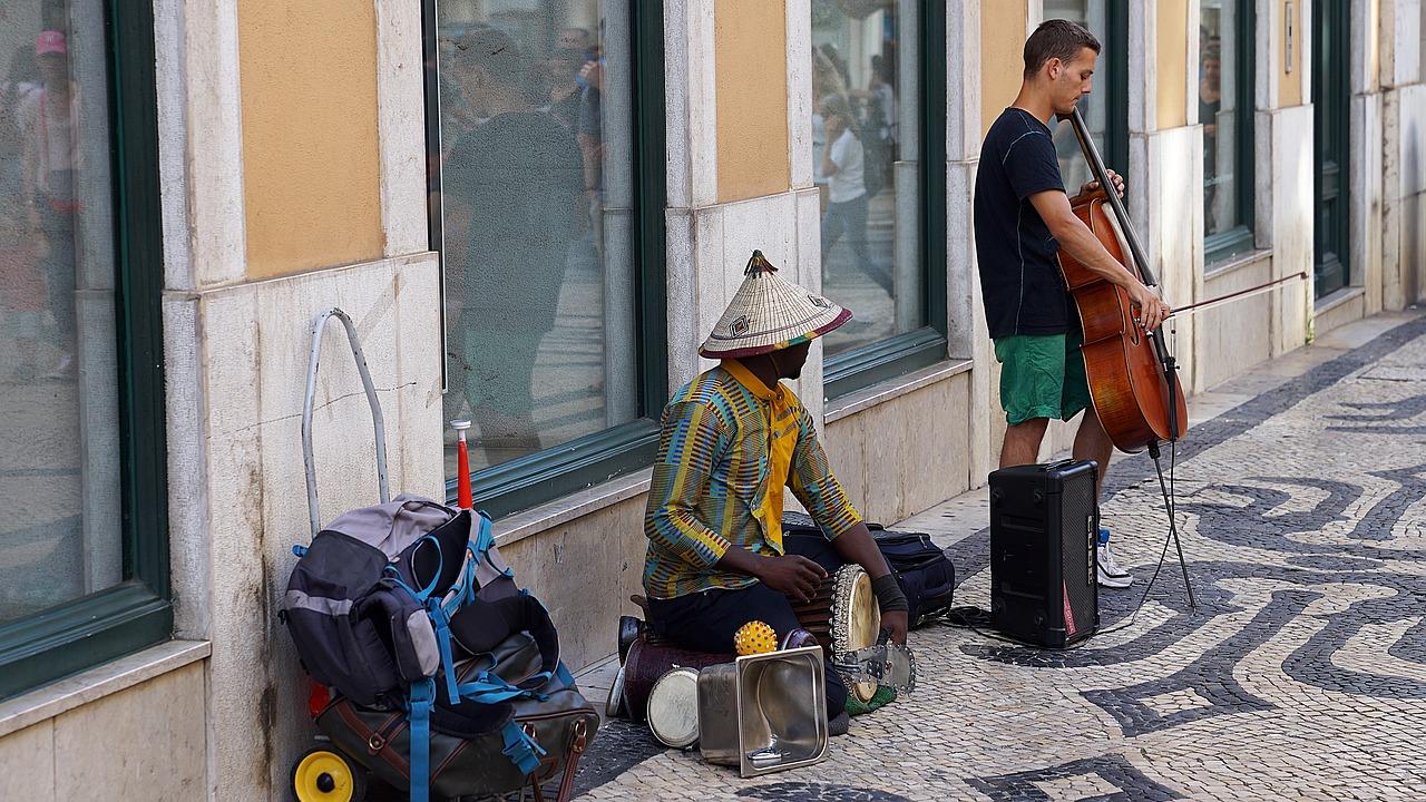 Street Performers Lisbon Portugal