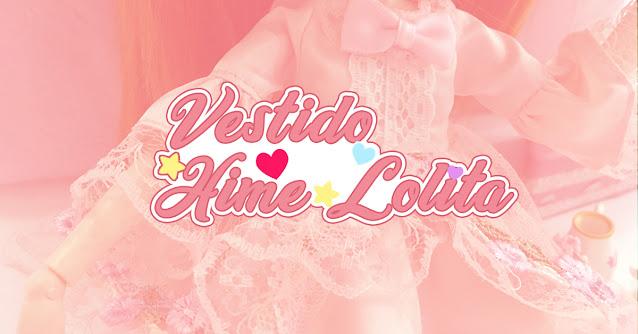 Roupinha Hime Lolita para bonecas do Aliexpress