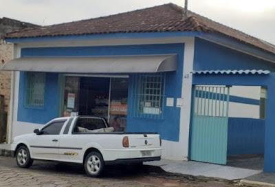 Casa onde Lygia morou em Apiaí, entre 1928-1931; hoje funciona um comércio. Edição da foto: Miguel França de Matos. Edição: William Rodrigues.