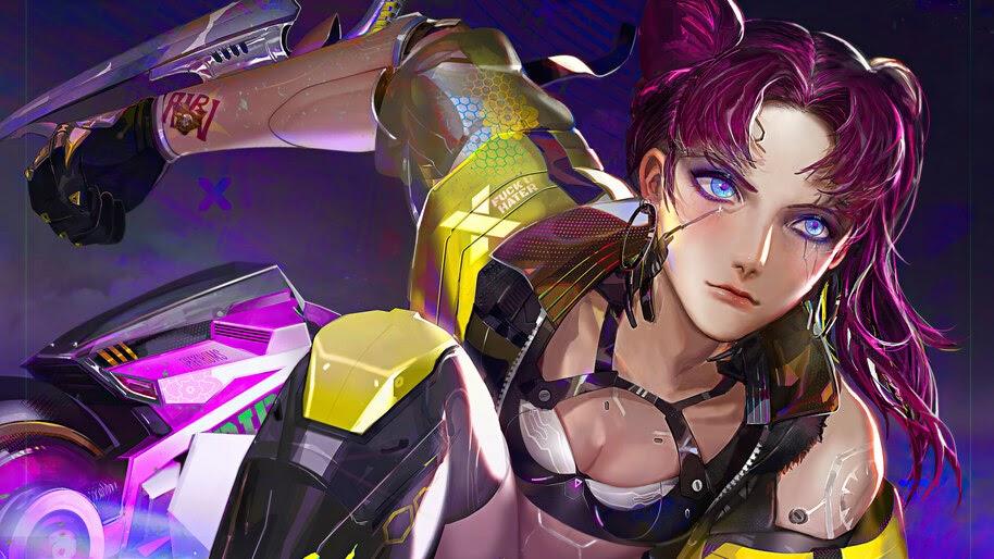 Cyberpunk 2077, Girl, 4K, #3.2720