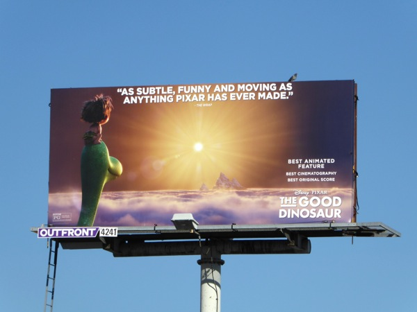 The Good Dinosaur awards consideration billboard