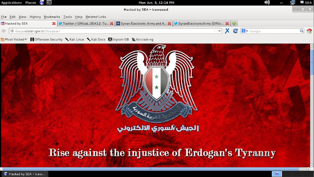 Turkish PM Erdogan's staff emails hacked and leaked by Syrian Electronic Army Hackers as #OpTurkey