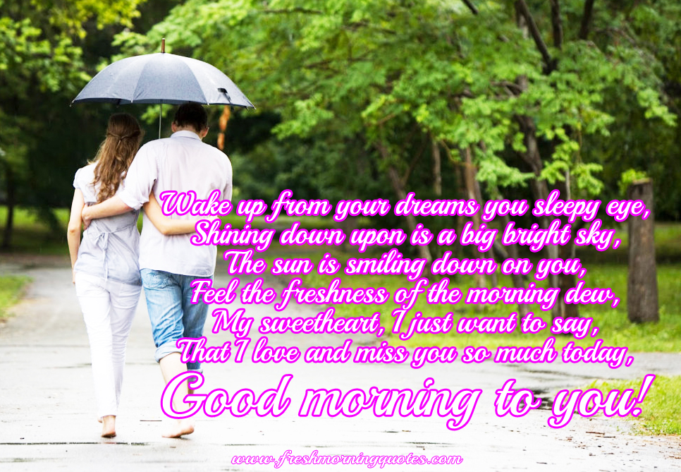 Good Morning Poems For Her And Him Freshmorningquotes