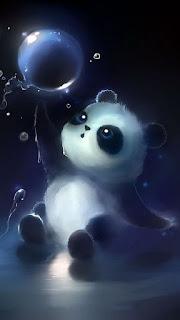 Wallpaper WA Panda Keren HD