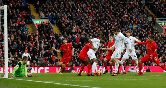 Liverpool vs Swansea City 2-3 Video Gol & Highlights