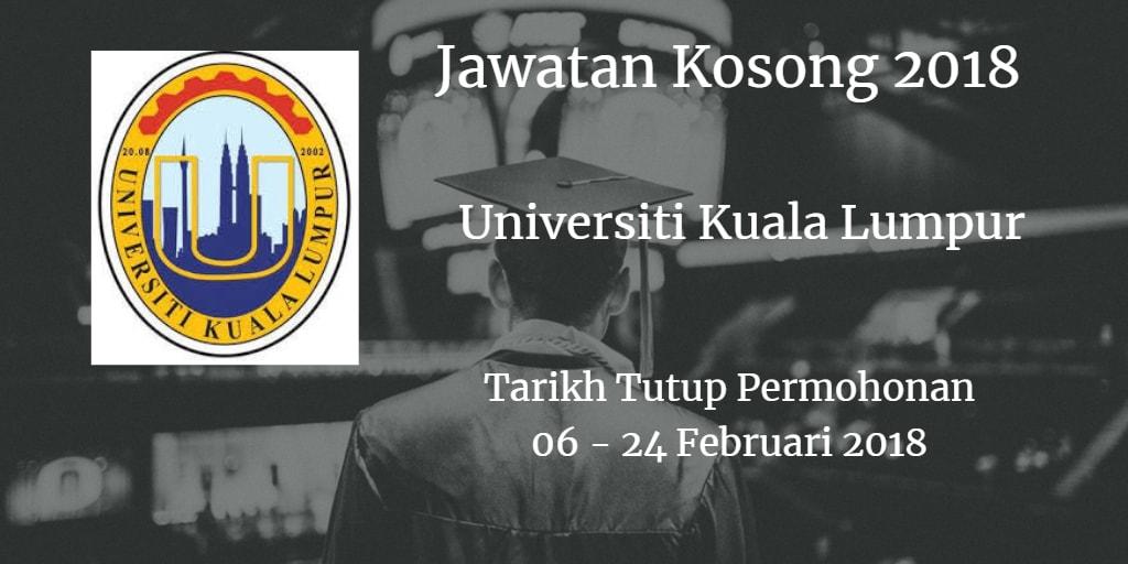 Jawatan Kosong UniKL 06 - 24 Februari 2017