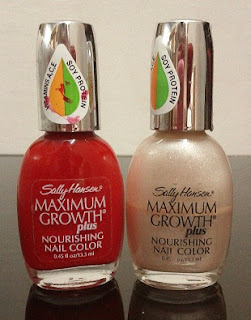 Sally Hansen MAXIMUM GROWTH plus nourishing nail color with Vitamins A,C,E and Soy Protein