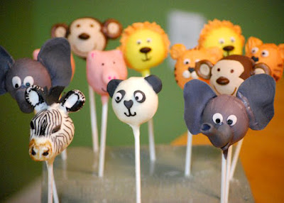 Noah's Ark animal cake pops
