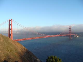 USA Reise Experten Ansicht der Golden Gate Bridge und Bay of San Francisco