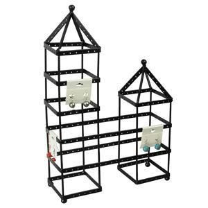 """#DP032DT Twin Towers 10""""W x 3 1/2""""D x 15 1/2""""H"""