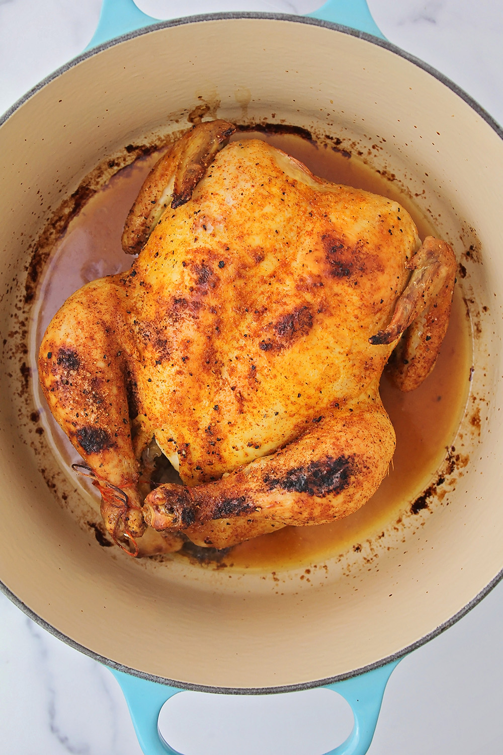 This simple and delicious roast chicken is so easy to make, and so tender and flavorful!