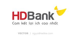 Logo ngân hàng HDBANK vector
