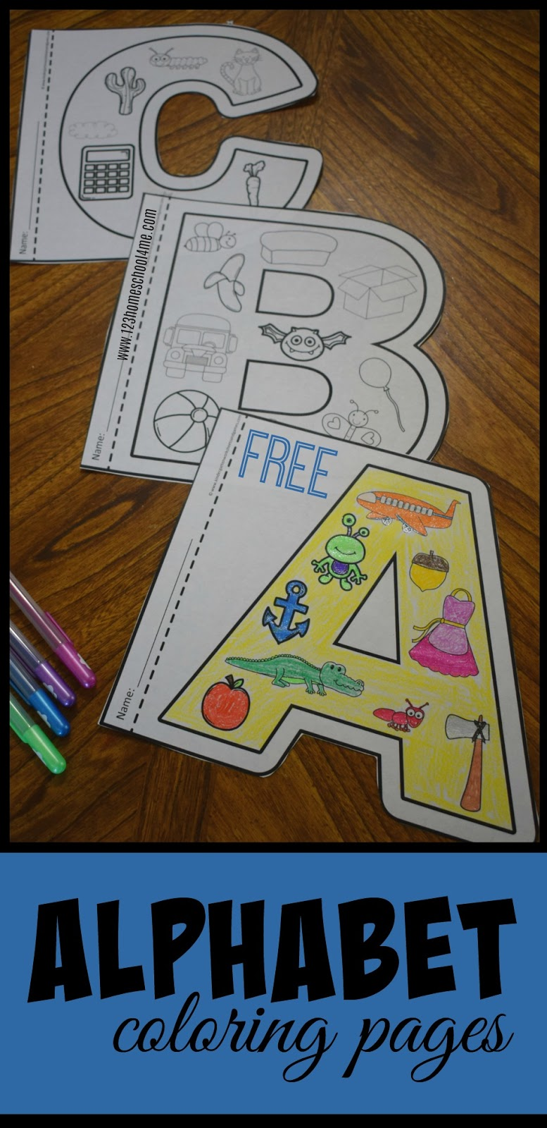 Kindergarten Worksheets and Games: FREE Alphabet Coloring Pages