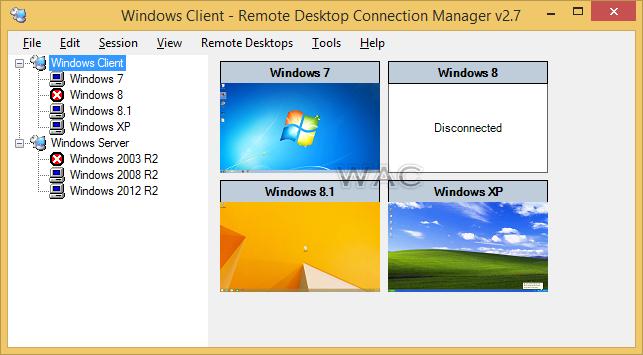 Windows Admin Center: Remote Desktop Connection Manager 2 7