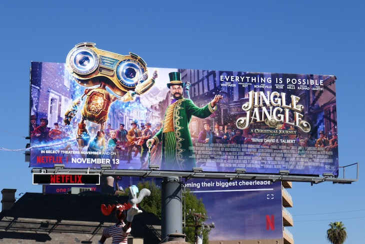 Jingle Jangle movie billboard