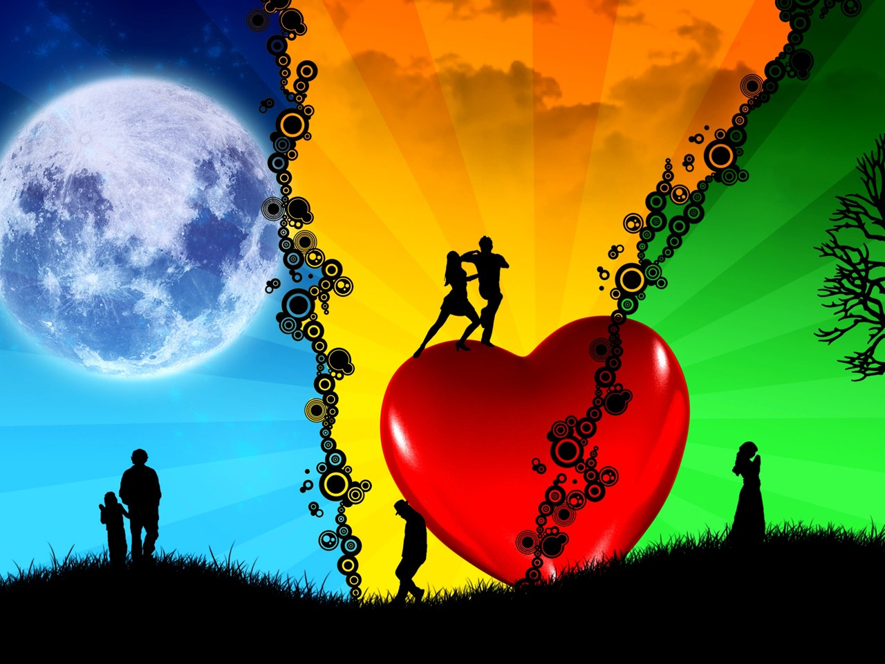 love romance and heart wallpapers most beautiful places