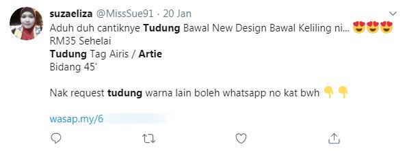 Feedback tudung bawal Artie sticker berlian DMC hotfix Kota Bharu