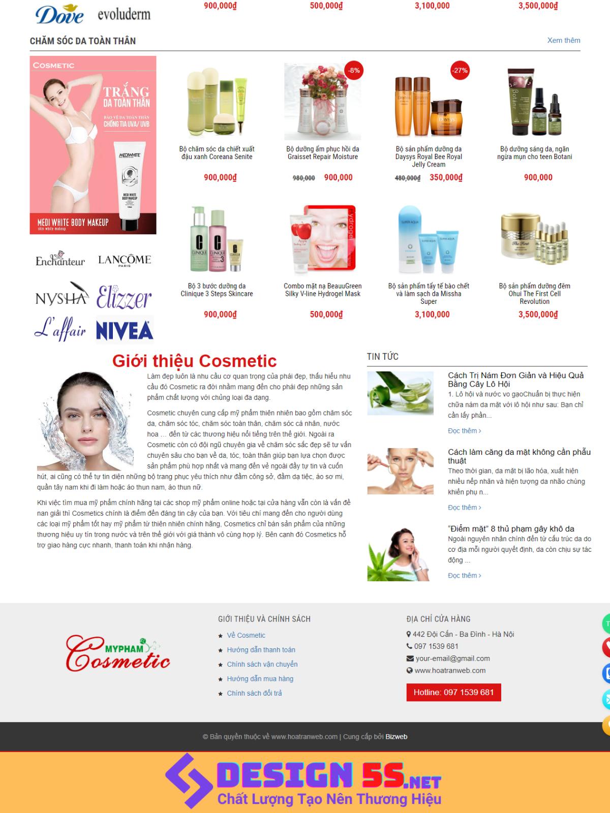 Template Blogspot Mỹ phẩm Cosmetic Miễn Phí - Ảnh 2