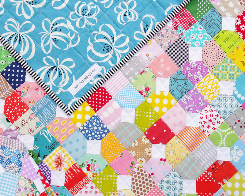 Red Pepper Quilts: Scrappy Bow Tie Quilt - A Finished Quilt