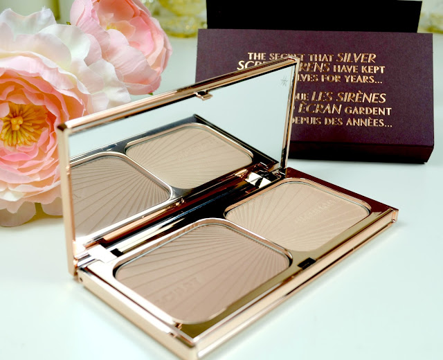 Charlotte Tilbury - Filmstar bronze and glow - contour palette - review - swatch - make up - contouring