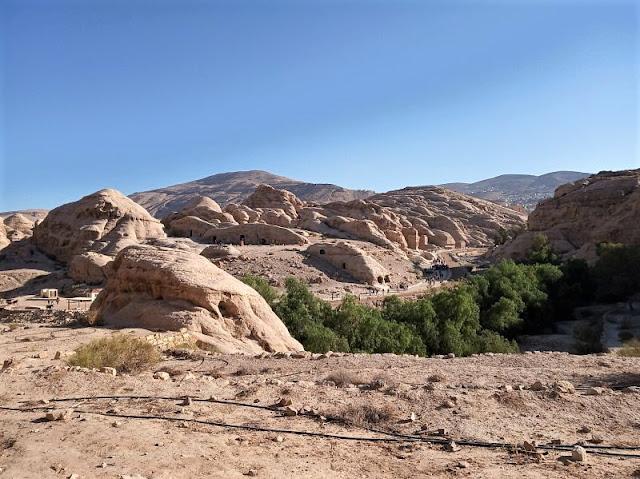 veduta sul main trail di Petra