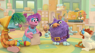 Abby's Flying Fairy School Sleeping Blöggy, Abby Cadabby Blögg Gonnigan, Sesame Street Episode 4308 Don't Wake the Baby