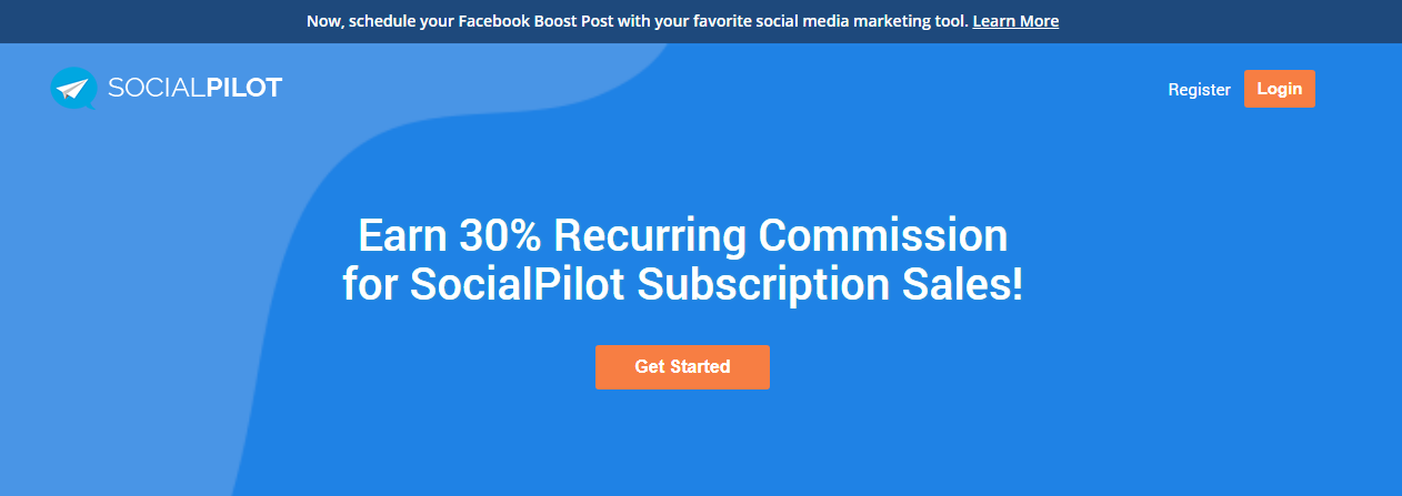 social pilot affiliate program 30% commission