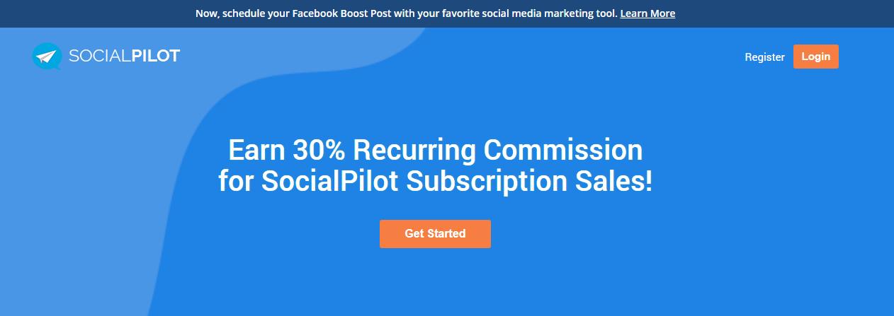 social pilot affiliate program 30% commission
