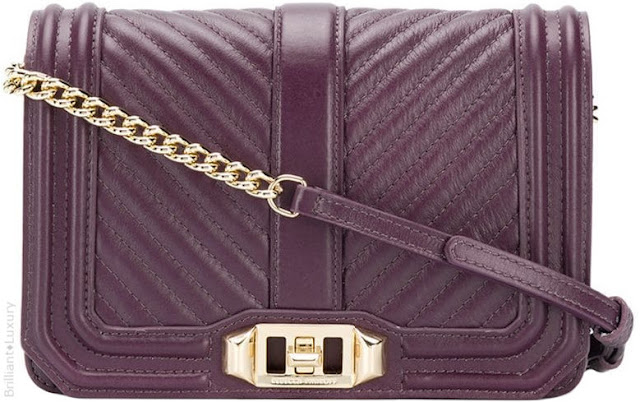 Brilliant Luxury♦Rebecca Minkoff Chevron Quilted Love cross body bag