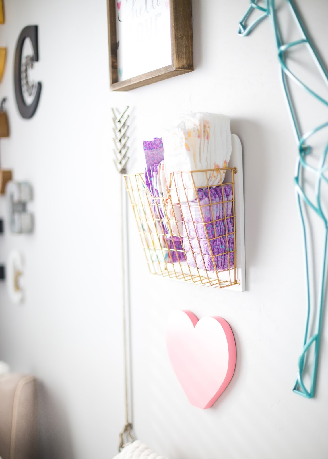 Changing Table Decor, Baby Girl Nursery, Girl Nursery Ideas