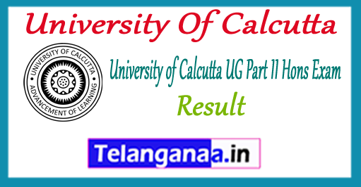 University Of Calcutta UG BA B.Sc B.Com  Part II Hons Exam 2017 Result