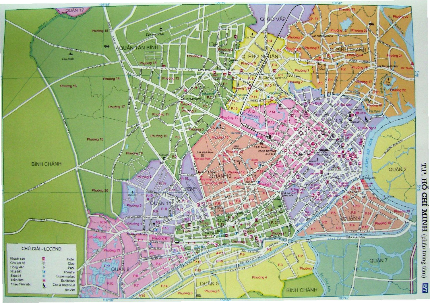 Saigon Map   Tourist map  city map and street map of Ho Chi Minh     Show map of Ho Chi Minh