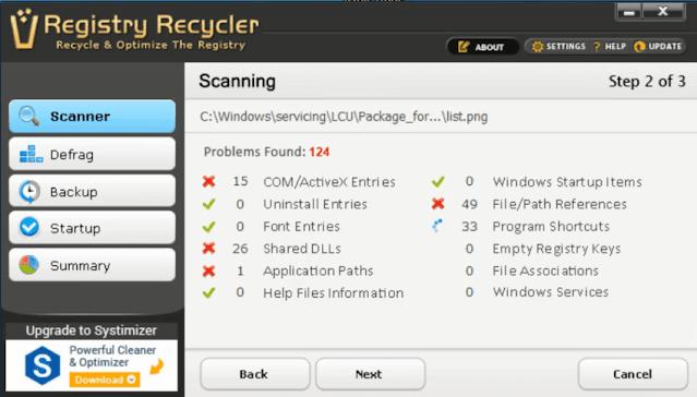 تحميل برنامج Registry Recycler