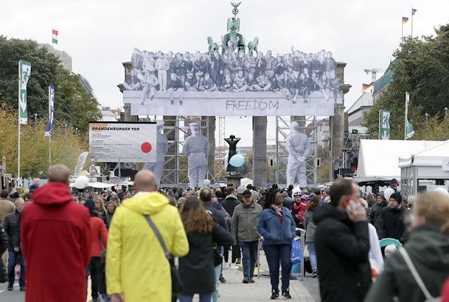 Comemoração do Dia da Reunificação da Alemanha em Berlim em outubro