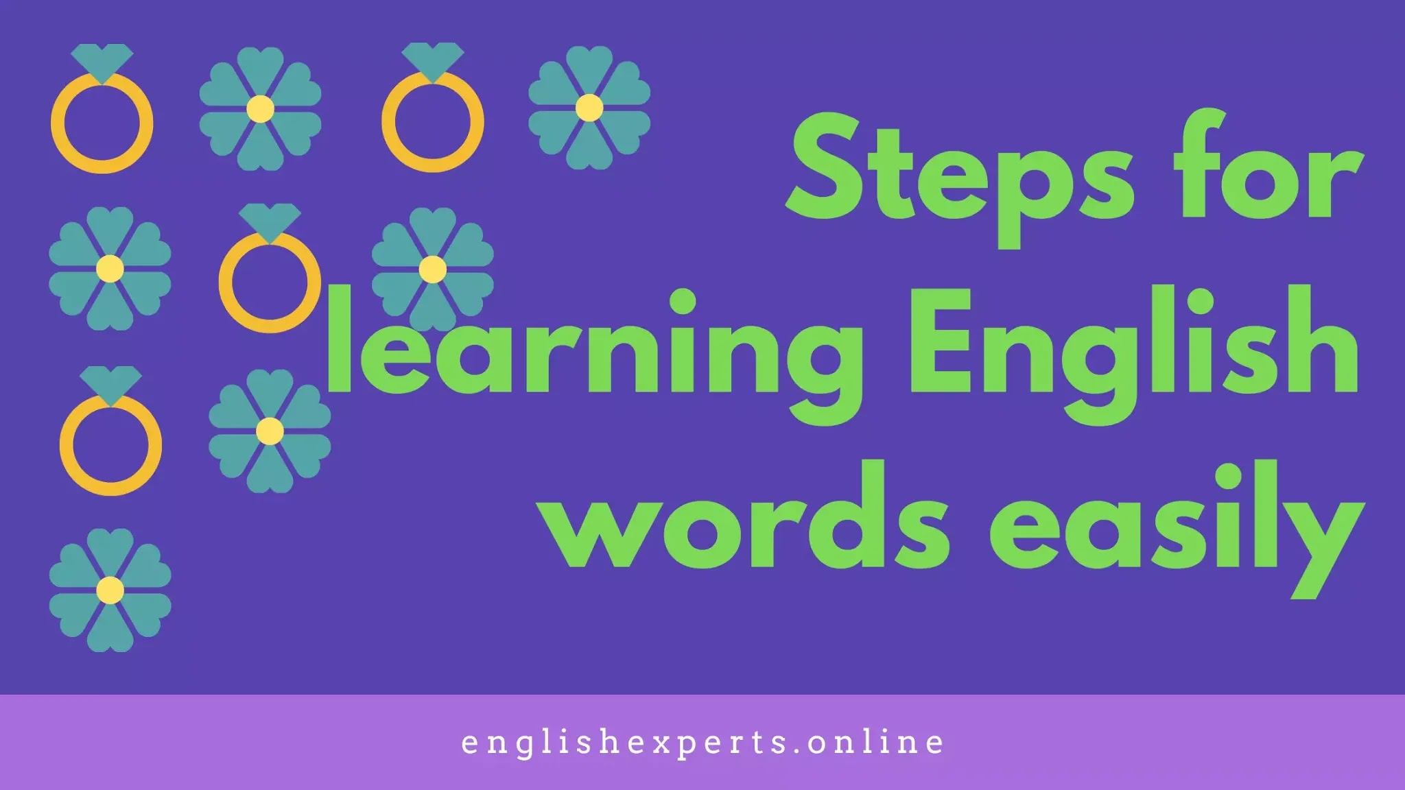 Steps for learning English words easily