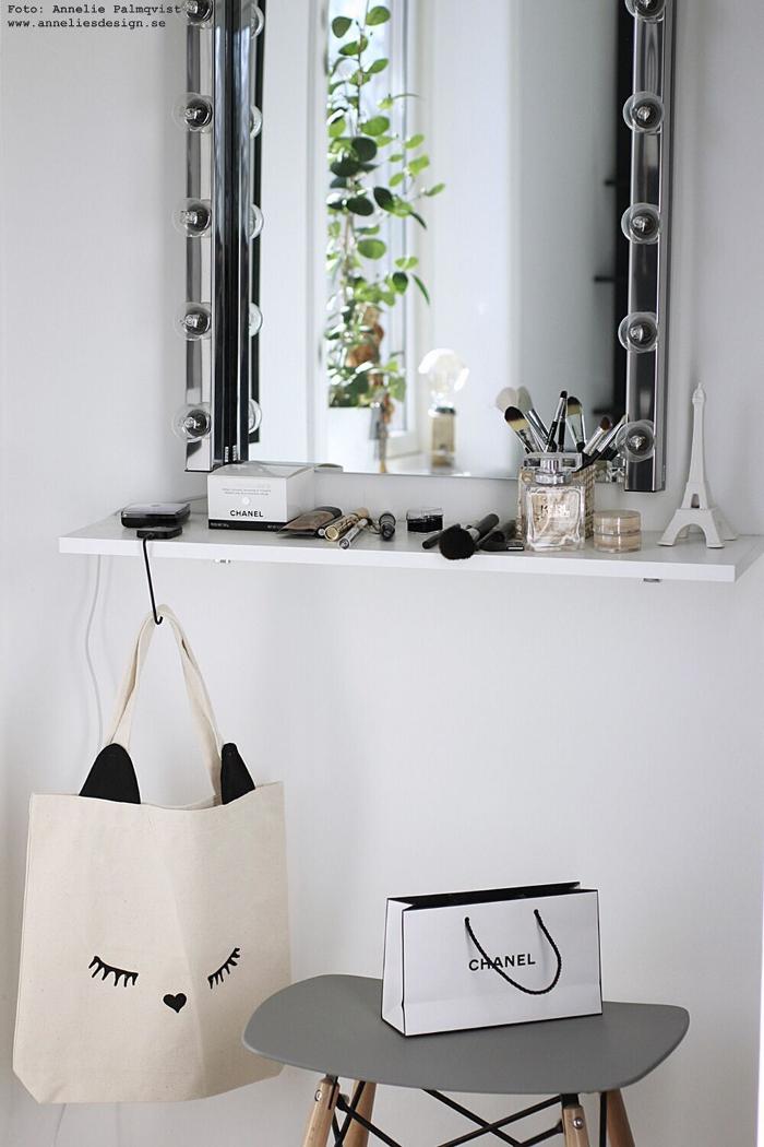 annelies design, cat ear tote, väska, bag all, inredning, sminkhörna, webbutik, webshop, nätbutik, presenttips,