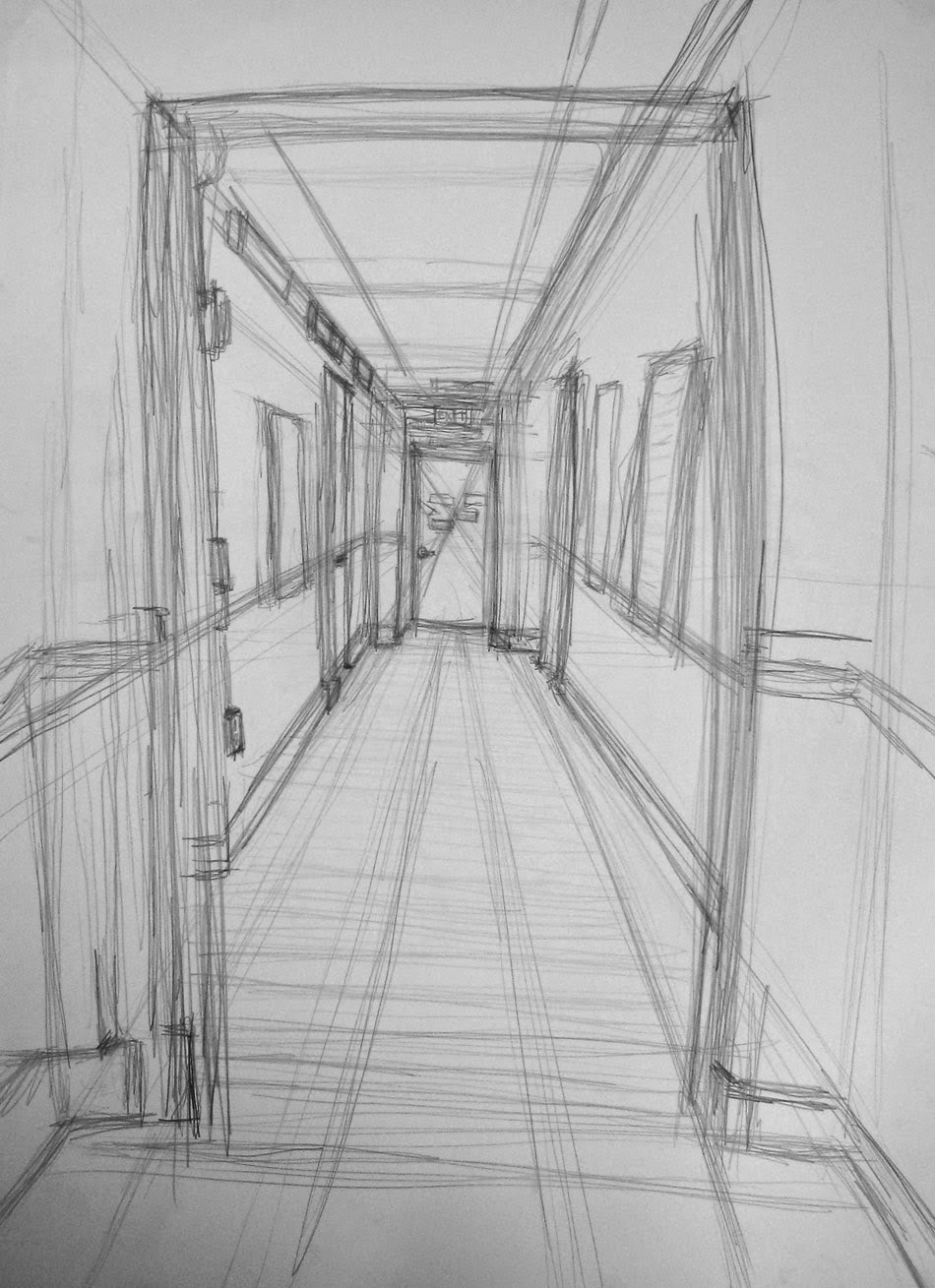 Linear Perspective: Student Drawings & Sketches | Drawing ...