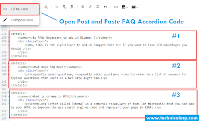 How to add FAQ Accordion in Blogger Post
