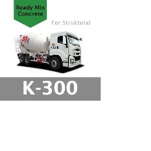 Harga Beton Cor Mutu K-300