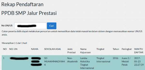 Cek pendaftaran PPDB Surabaya 2017