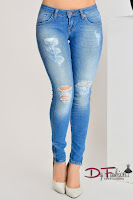 Jeans Blue Zipper