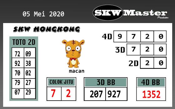 Prediksi Togel Hongkong 05 Mei 2020 - SKW Master HK