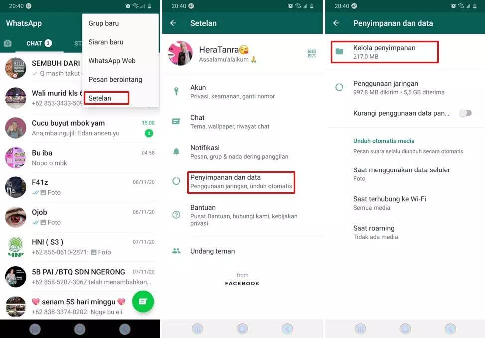 cara menggunakan fitur penyimpanan data WhatsApp-1234