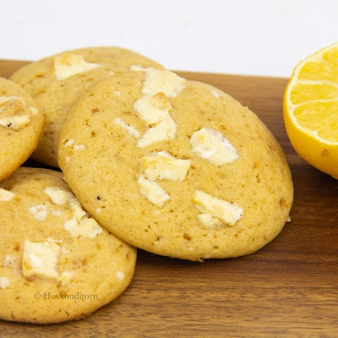 Lemon Curd & White Chocolate Cookies