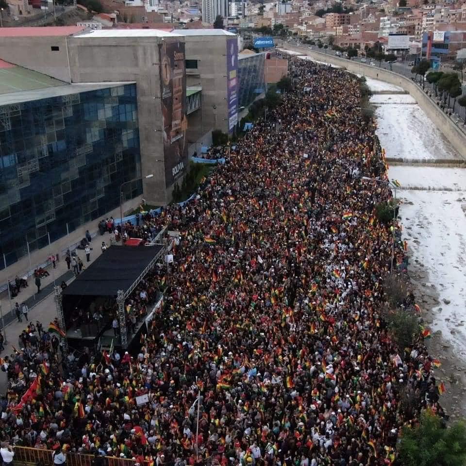 El jueves se ha convocado al cabildo nacional en la avenida del Campor Ferial de La paz, para definir la posición ante el fraude electoral / FACEBOOK